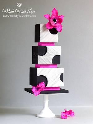 Cut Away Wafer Paper Cake - Cake by Pamela McCaffrey