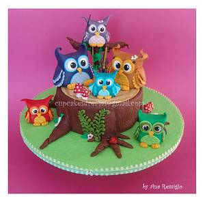THE LITTLE OWL VIOLINIST - Cake by Ana Remígio - CUPCAKES & DREAMS Portugal