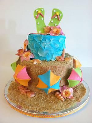 Beach Theme Cake! - Cake by Jacque McLean - Major Cakes