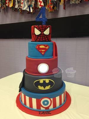 Super Heroes! - Cake by Susan
