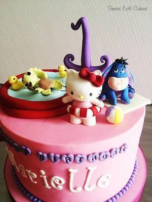 Hello Kitty n Friends Pool Party Cake - Cake by Heidi
