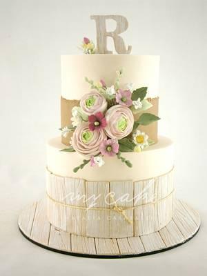 Torta romántica estilo Country - Cake by Natalia Casaballe