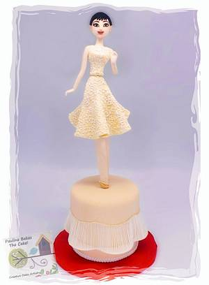 Fashionista Audrey In Givenchy 1954! - Cake by Pauline Soo (Polly) - Pauline Bakes The Cake!