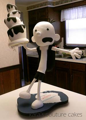 Gravity Defying Sculpted Diary of a Wimpy Kid Cake - Cake by Kara's Couture Cakes