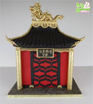 Oriental house - Cake by Bety'Sugarland by Elisabete Caseiro