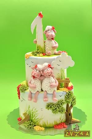 Little sheep birthday cake - Cake by Nasa Mala Zavrzlama