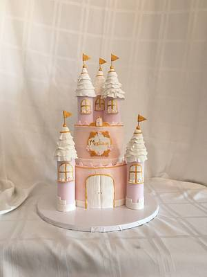 1st birthday princess castle - Cake by Brandy-The Icing & The Cake