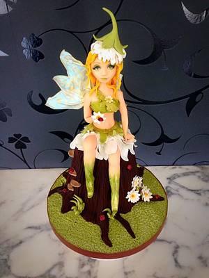 Flower fairy  - Cake by Simone Barton