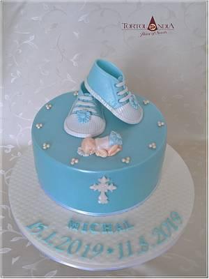Christening cake for Michal - Cake by Tortolandia