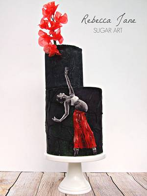 """""""Dancing upon Injustice"""" Be RED - UNSA Collaboration - Cake by Rebecca Jane Sugar Art"""