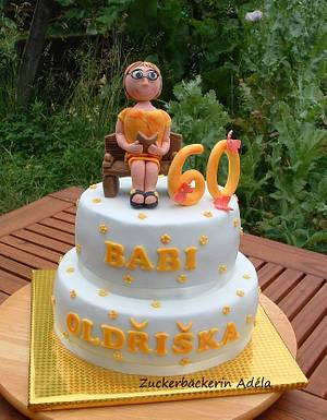 60th Birthday cake - Cake by Adéla