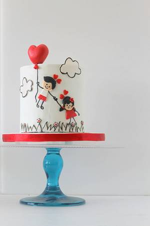 Love is in the air - Cake by Midnight Kakery