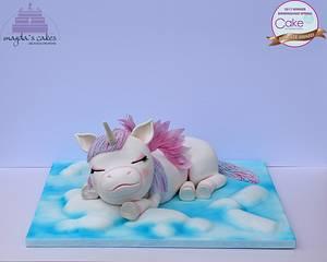 Sleeping Baby Unicorn - Cake by Magda's Cakes (Magda Pietkiewicz)
