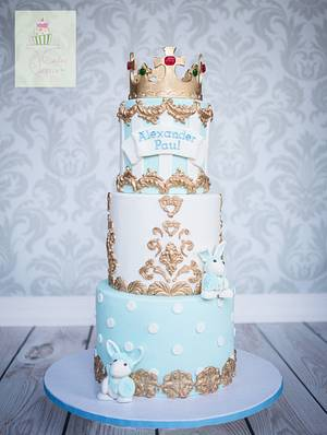 Royalty King theme Christening cake - Cake by Cakes by Janice
