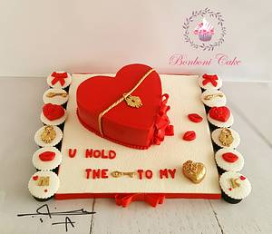 Red heart - Cake by mona ghobara/Bonboni Cake