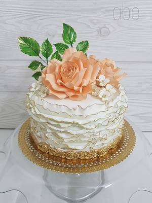 Ruffles & Roses - Cake by Ashwini Tupe