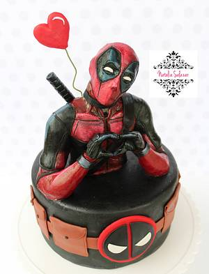Deadpool Cake - Cake by Natalia Salazar
