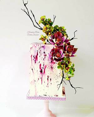 Oriental Watercolour - Cake by Amelia Rose Cake Studio