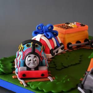 Thomas the Train Turns 2 - Cake by Jenny Kennedy Jenny's Haute Cakes