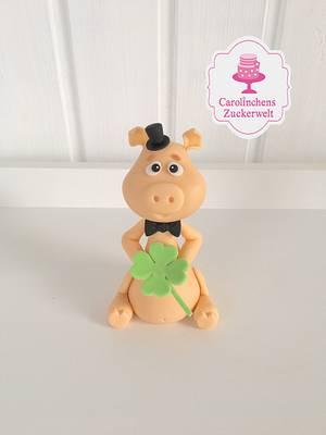💕🍀 Silvester Glücksschwein 🍀💕 - Cake by Carolinchens Zuckerwelt
