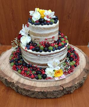 Rustic Wedding cake  - Cake by Michelle's Sweet Temptation