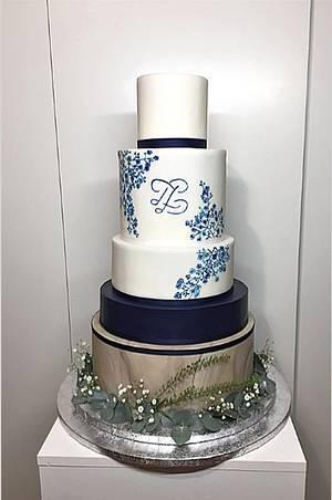 Wedding cake blue - Cake by Frufi