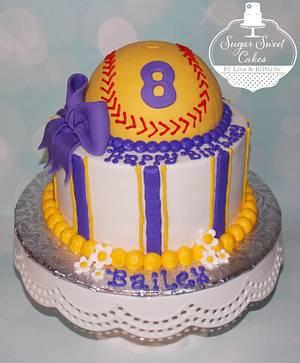 Softball - Cake by Sugar Sweet Cakes