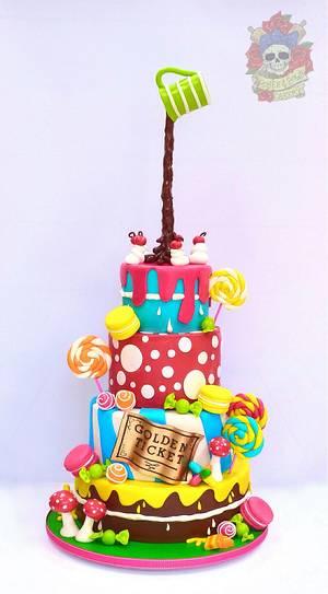 Wonka theme wedding cake - Cake by Karen Keaney