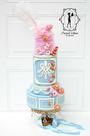 Marie Antoinette CakeFlix Collaboration - Cake by PrimaCristina
