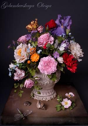 "Sugar flowers ""Baroque.."" - Cake by Golumbevskaya Olesya"