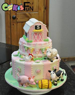 Shabby Chic Farm house - Cake by Cakes For Fun