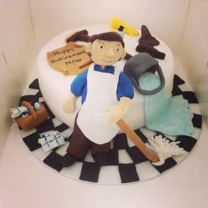 School cleaners retirement cake  - Cake by Marie