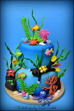 Under the Sea Cake - Cake by Cecile Crabot