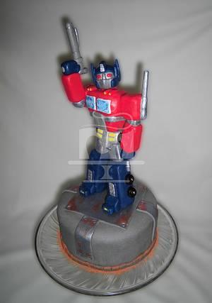 Transformers - Optimus Prime - Cake by SayangManis
