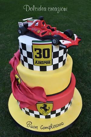 Ferrari F1  - Cake by Dolcidea creazioni