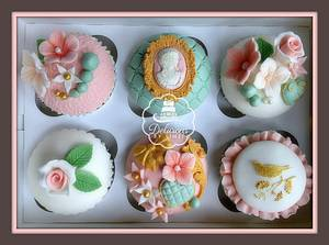 Vintage cupcakes - Cake by Delicious By Linzi