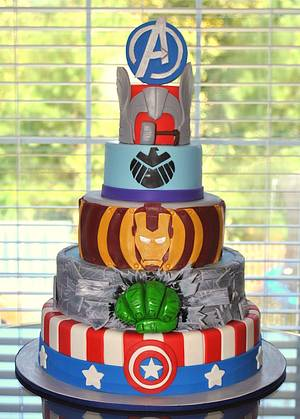 Avengers Cake - Cake by Hope Crocker