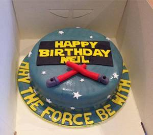 Star Wars themed cake - Cake by Kayleighscakes