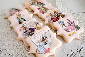 Beatrix Potter Hand Painted Cookies - Cake by Kim Coleman (Sugar Rush Custom Cookies)