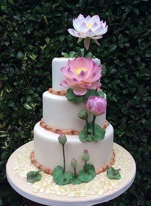 Lotus' flower...Oriental garden - Cake by Piro Maria Cristina