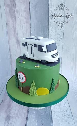 Cake with motor home - Cake by Aurelia's Cake