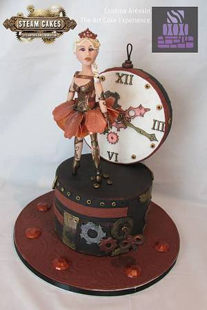 """Steam Cakes- Steampunk Collaboration """" Musical Time Box"""" - Cake by Cristina Arévalo- The Art Cake Experience"""