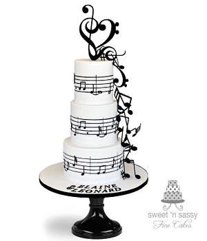 Love song - Cake by Sandy Lawrenson - Sweet 'n  Sassy