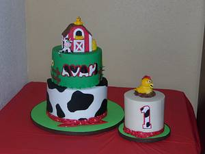Barnyard Fun I'm Turning 1 - Cake by Sweets By Monica