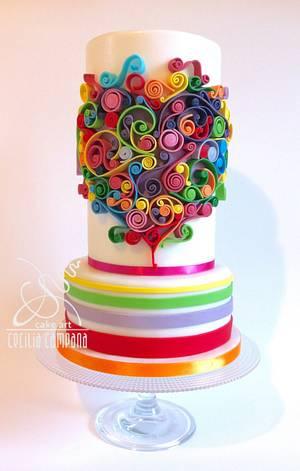 The Colors of love - Cake by Cecilia Campana
