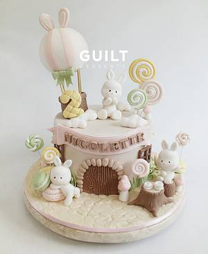 Cute bunnies - Cake by Guilt Desserts