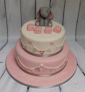 Pink christening cake - Cake by Rachel Roberts