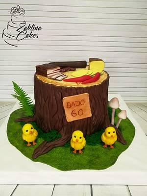Tree stump cake - Cake by Zaklina