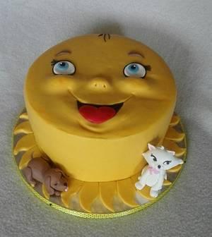 Funny sun - Cake by Anka