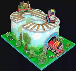 Thomas and Friends - Cake by Amelia Rose Cake Studio
